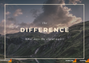 Question - difference is what the client needs, mountain scene with clouds.